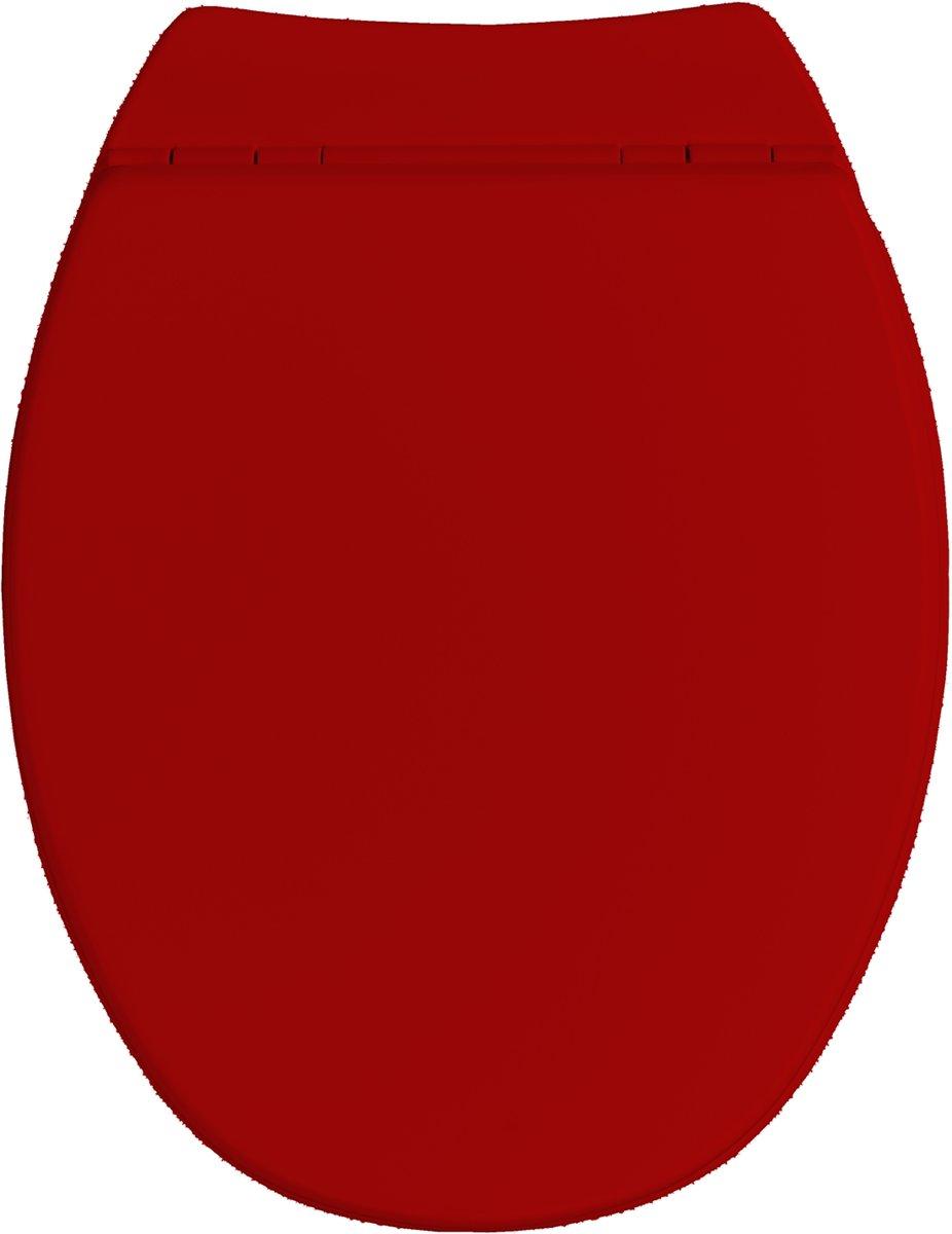 Allibert wc-bril SERENITY² - geperst hout - soft close - afklikbaar - antibacterieel - rood gelakt kopen