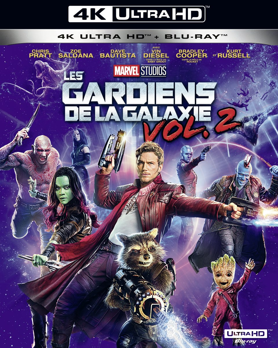Gardiens De La Galaxie 2 (4K Ultra HD Blu-ray) (Import zonder NL)-