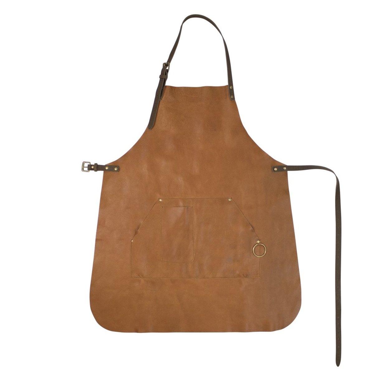 Mars & More - Koken, Tafelen en Huishouden - Koken - Textiel - Schort - Vintage schort leer cognac kopen
