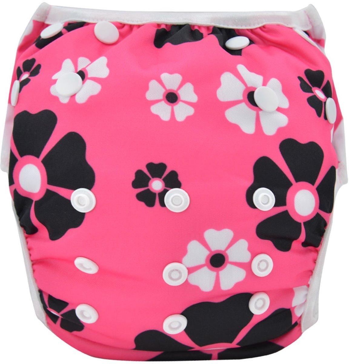 Zwemluier - Bloemen roze