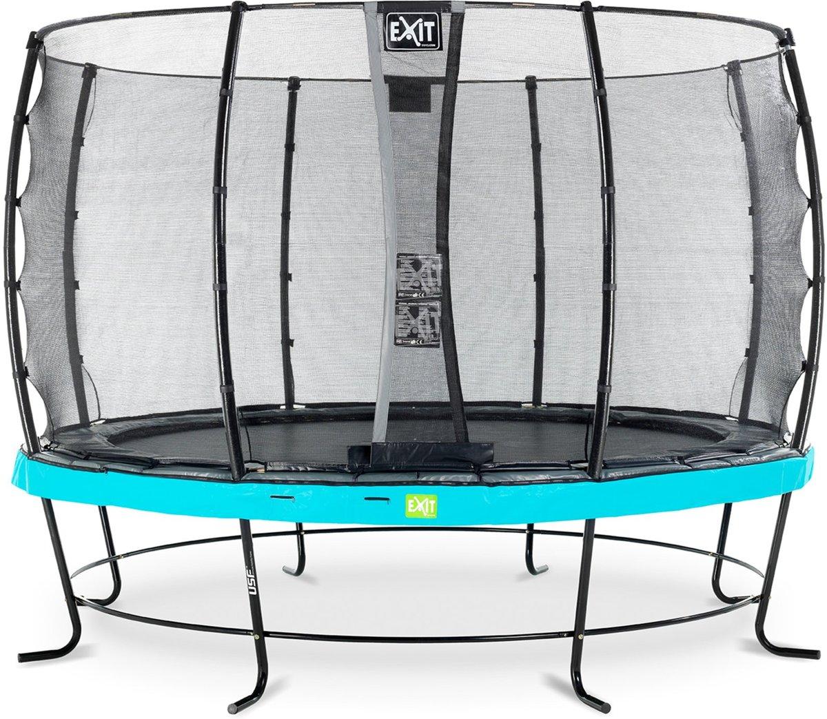 EXIT Elegant trampoline ø366cm met veiligheidsnet Economy - blauw