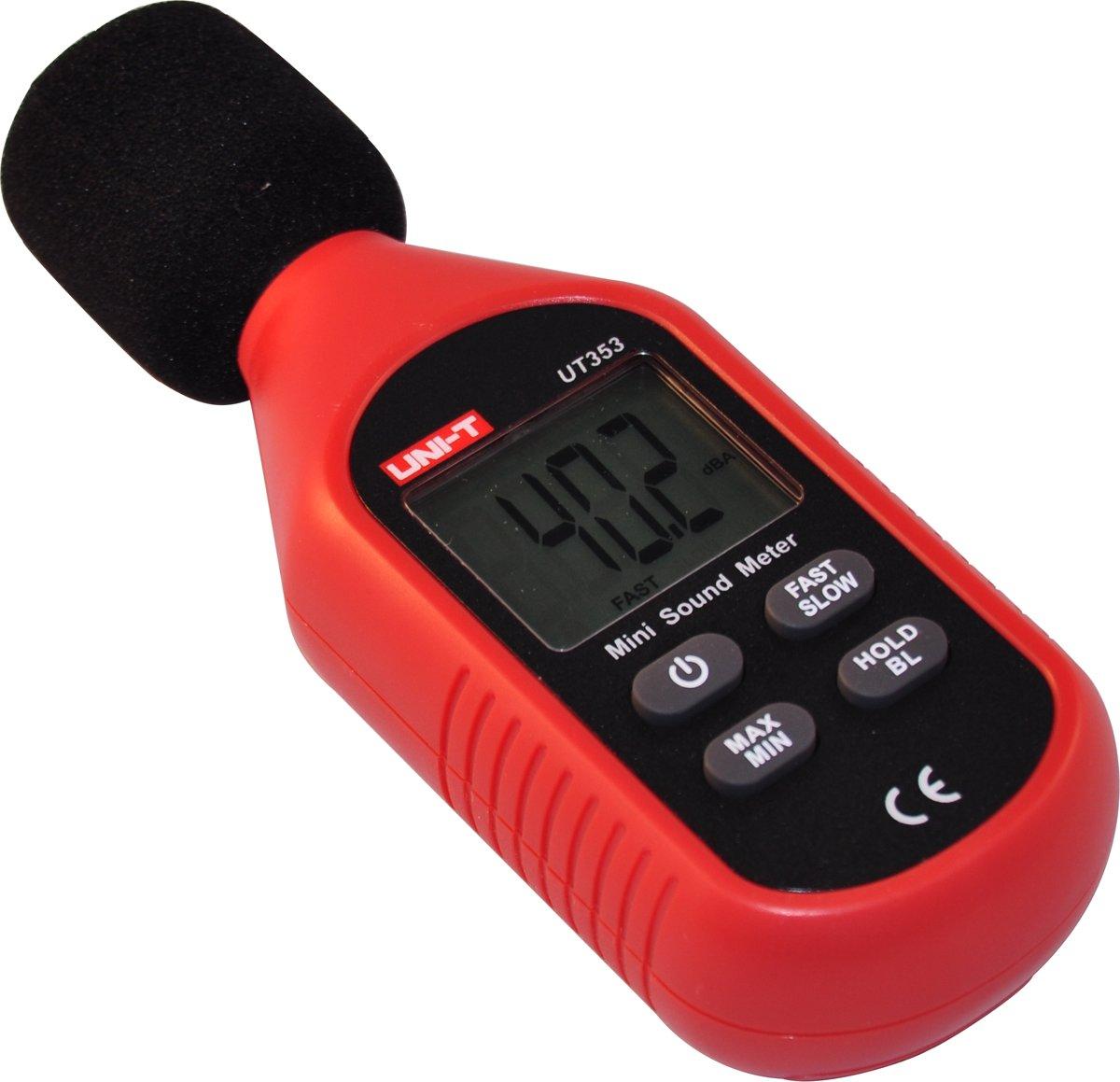 Uni-T Geluidsmeter Decibelmeter Geluidssterktemeter Geluidsniveaumeter Digitaal 30-130 dB Wateenkoopje kopen