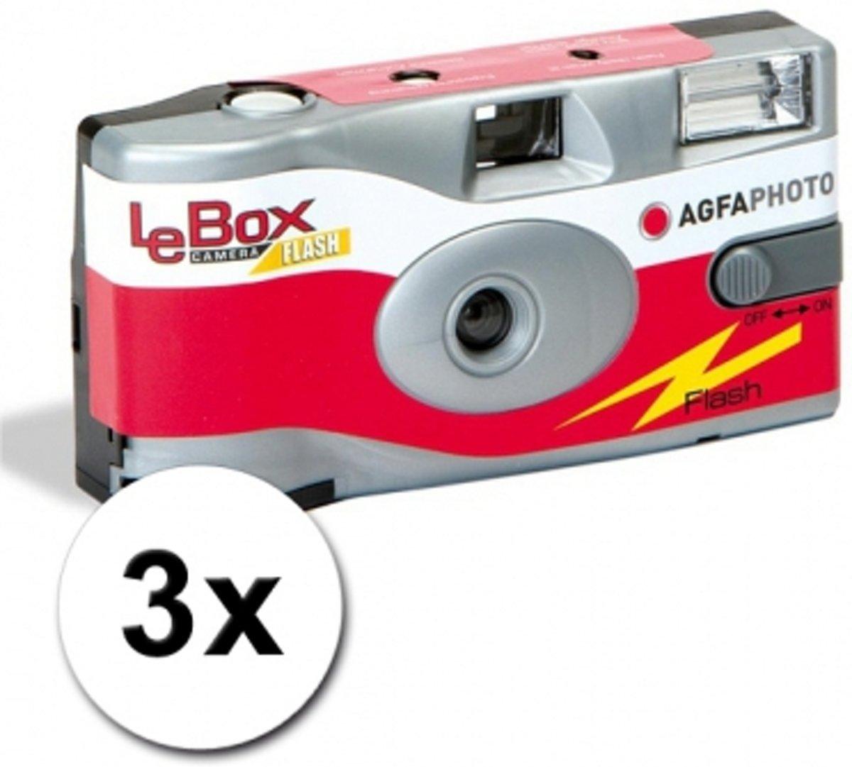 AgfaPhoto LeBox 400 27opn + flits - Multipack (3x) kopen