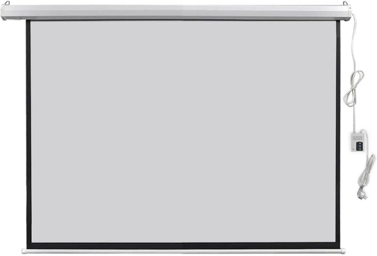 vidaXL Projectiescherm met afstandsbediening elektrisch 160x123 cm 4:3 kopen
