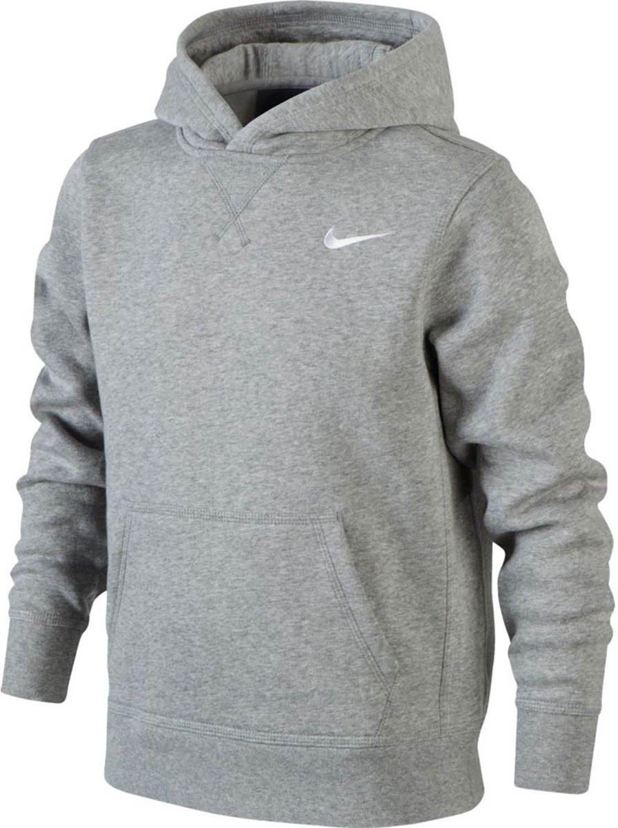 15aef679b72 bol.com | Nike YA76 Brushed Fleece Hoody Junior Sporttrui casual - Maat S -  Unisex - grijs Maat.