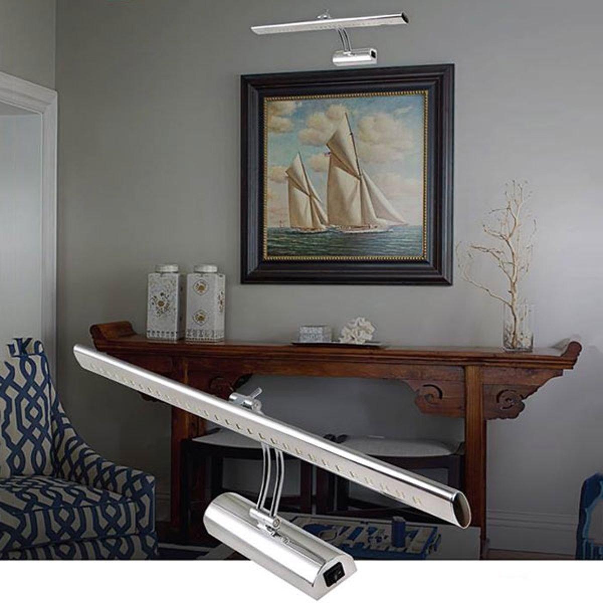 bol.com | LED Badkamer Wandlamp 6W 4200K Natuurlijk Wit Glans Chroom ...