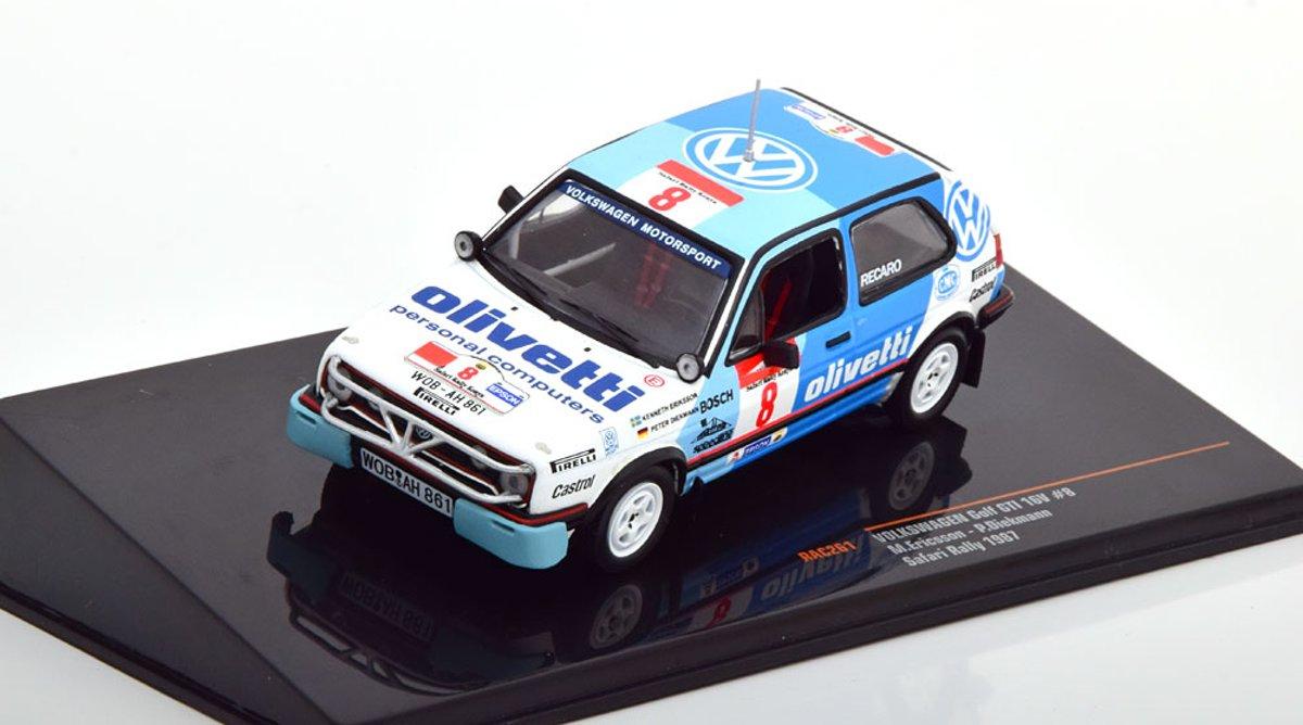 Volkswagen Golf II GTI No.8, Safari Rally WM 1987 Ericsson/Diekmann 1-43 Ixo Models