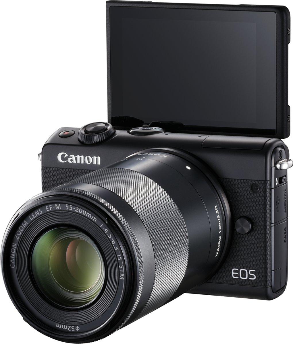 CANON EOS M100 + 15-45mm en 55-200mm Zwart kopen