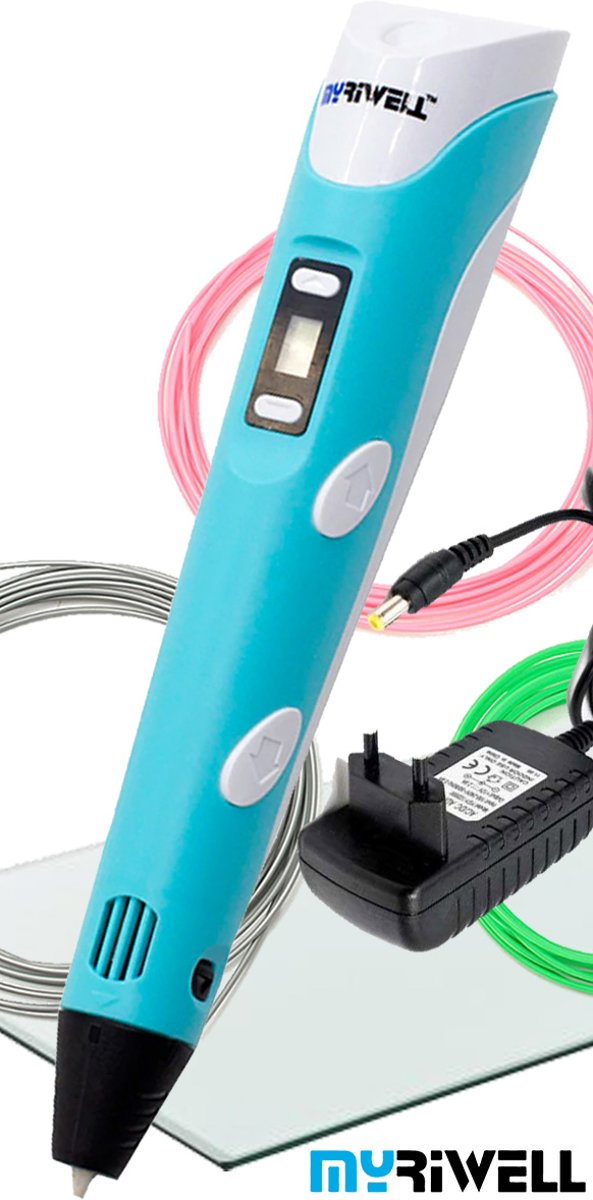 3D Pen MyRiwell Advanced LCD Original | GRATIS 3DPAD  | 3x2m Filament