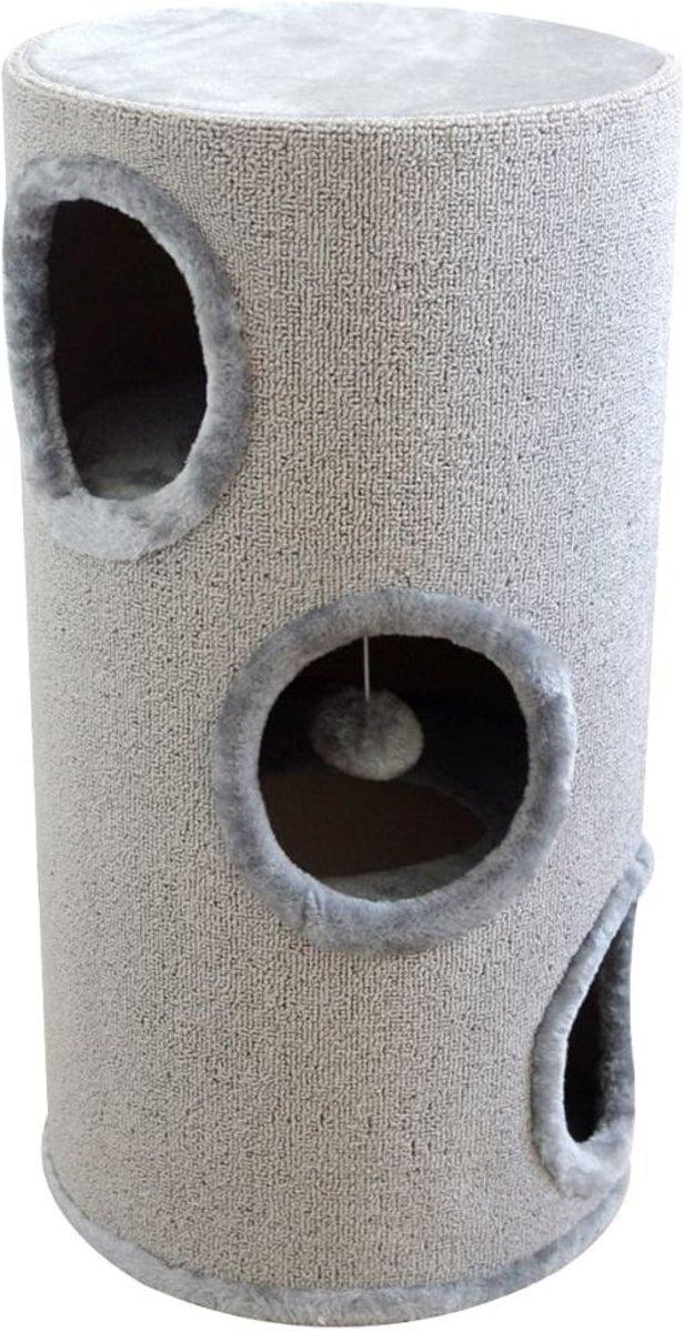 vidaXL Kattenhuis/krabpaal grijs 70 cm