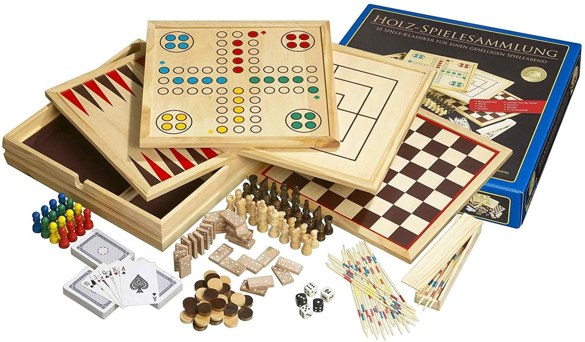 Philos houten game set Compendium 10 - groot