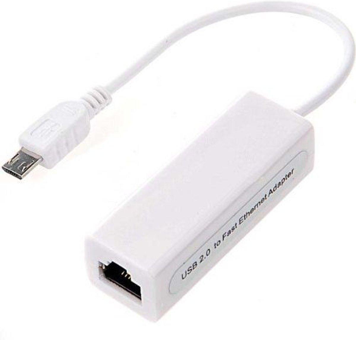 Js Supply Usb Micro Naar Rj45 Ethernet Adapter 010 Meter Lan Converter To Kabel