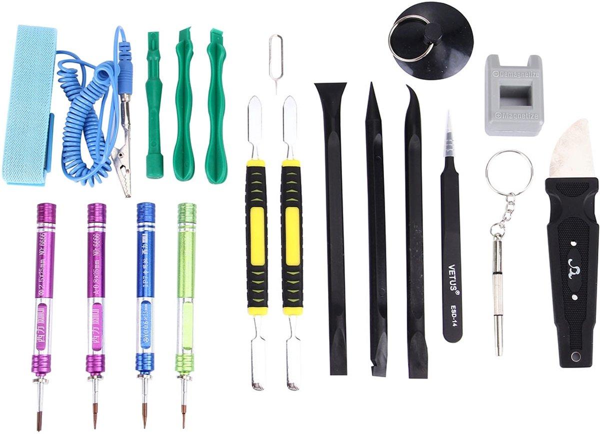 Appropriative Professional schroevendraaier reparatie Open Tool Kit met lederen handtas voor iPhone 7 & 7 Plus kopen