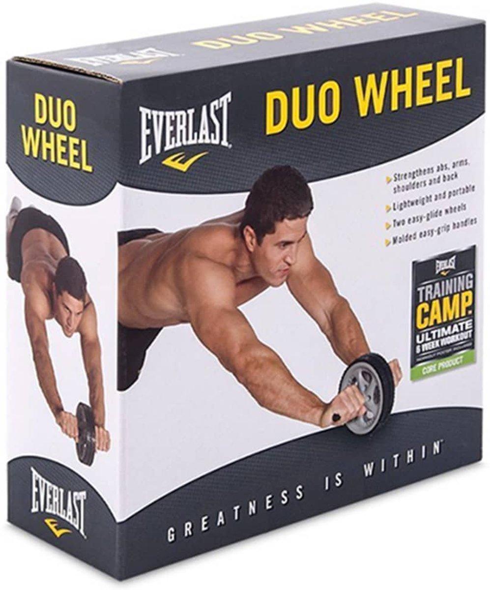 Duo Wheel - Buikspierwiel - Black/Grey - One Size kopen