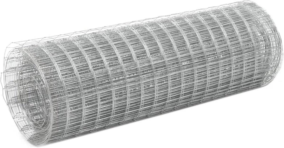 Kippengaas 10x0,5 m gegalvaniseerd staal zilverkleurig (incl. tyraps)
