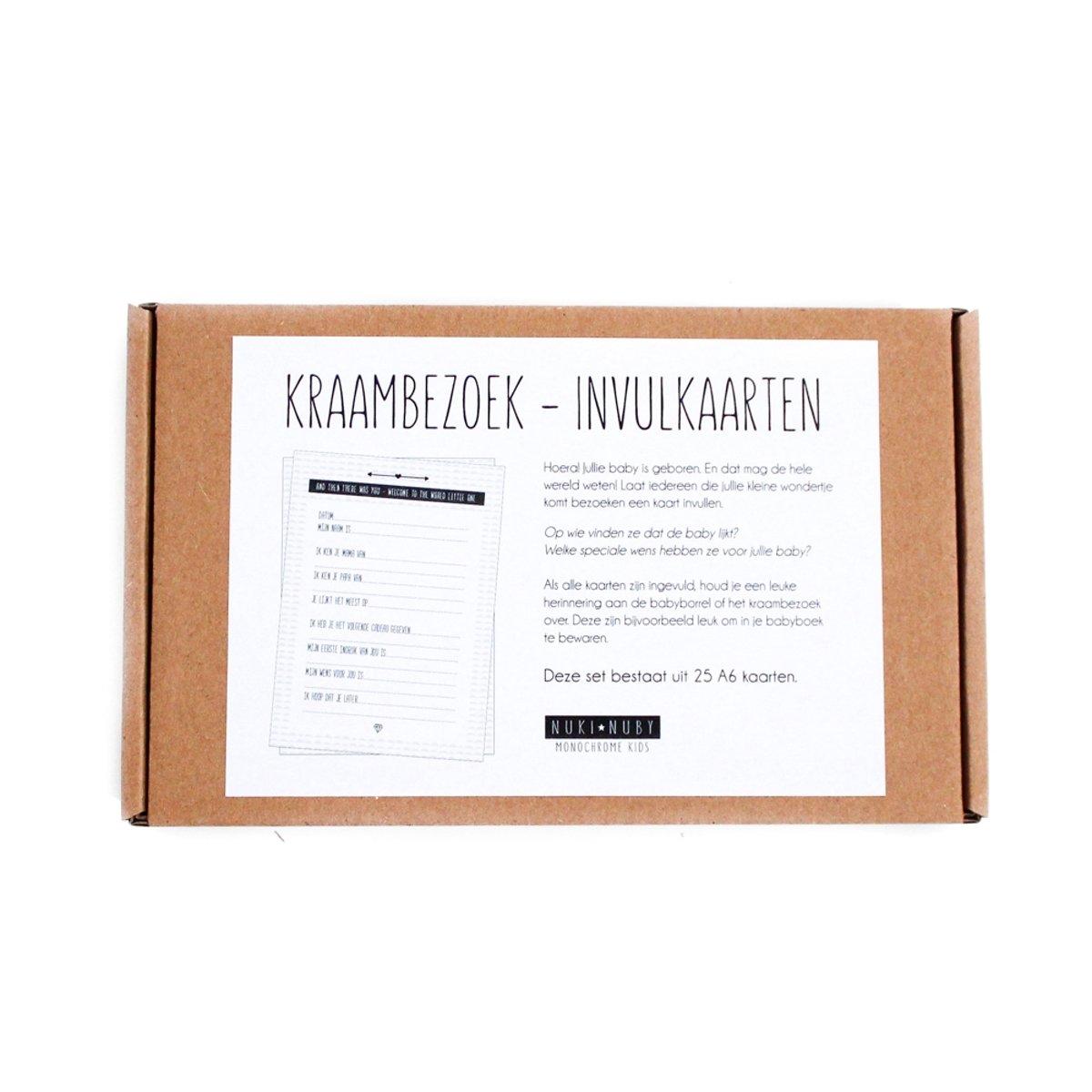 Extreem bol.com | Kraambezoek invulkaarten | Monochrome 25 stuks, Nuki #VU44