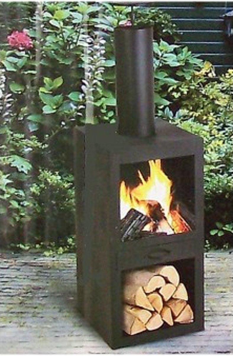 vuurkorf - terrashaard - tuinhaard - terraskachel - tuinverwarmer - buitenkachel 130 cm