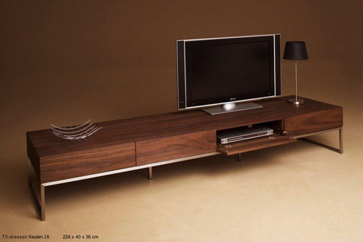 Bol tv meubel keulen bruin hout rvs