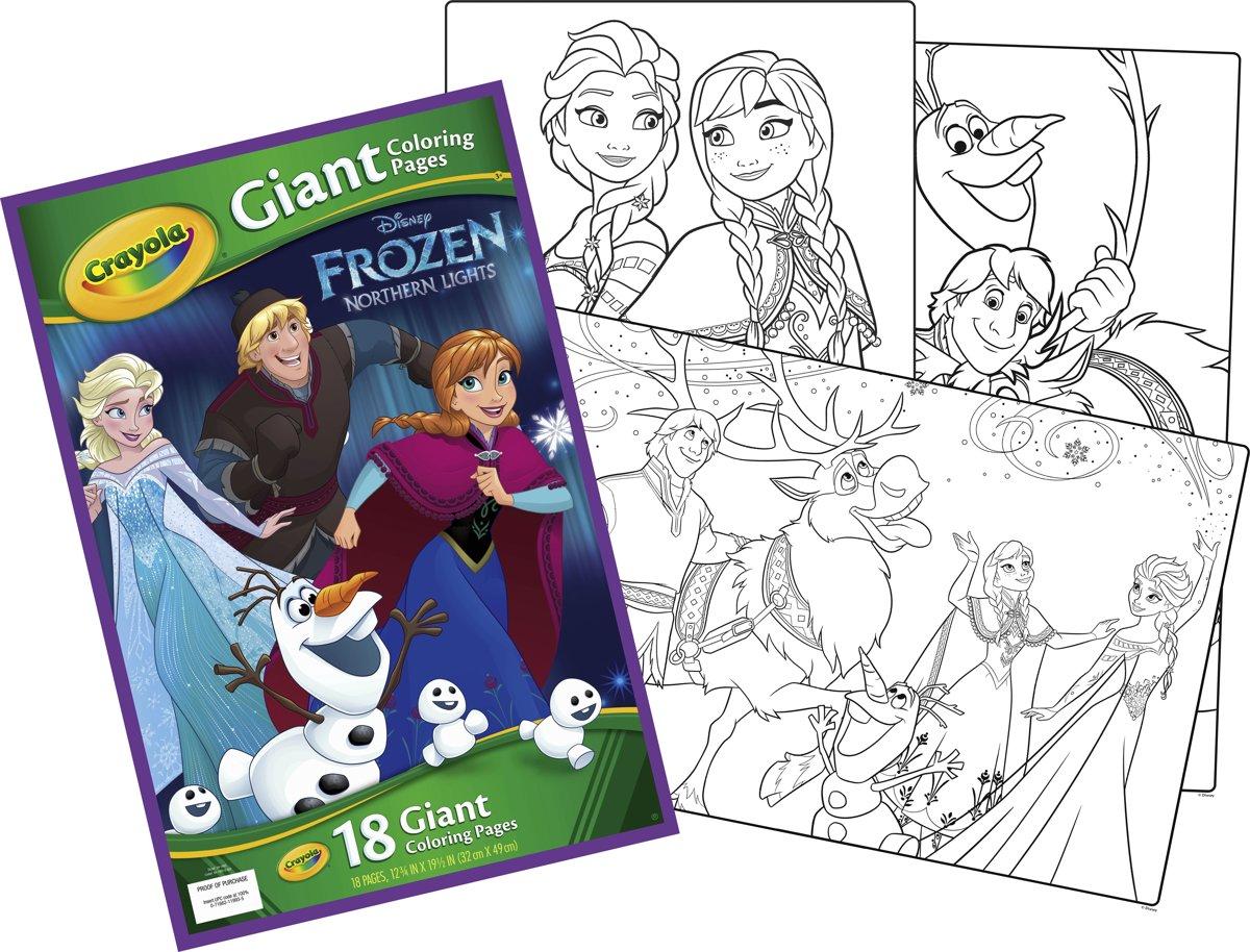 Studio 100 Kleurplaten Frozen.Bol Com Crayola Reuze Kleurplaten Frozen Crayola Speelgoed