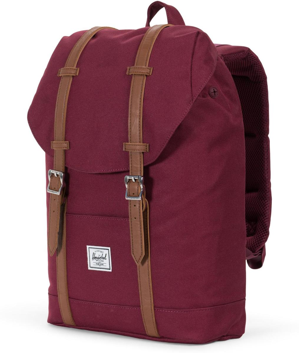 18b47fb3e24 bol.com | Herschel Supply Co. Retreat Mid-Volume Rugzak - Windsor Wine / Tan  Synthetic Leather
