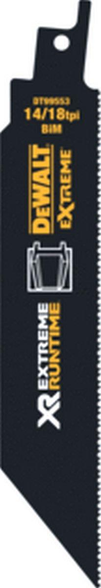 DEWA reciprozaagblad, v/hout, v/staal, v/non-ferro metalen