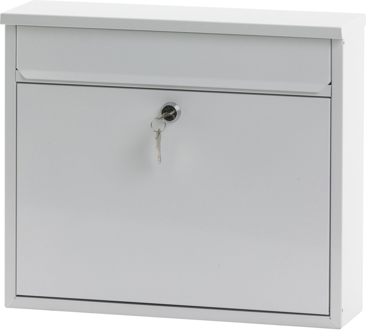 Stalen brievenbus wit - 11x36x31,5 cm