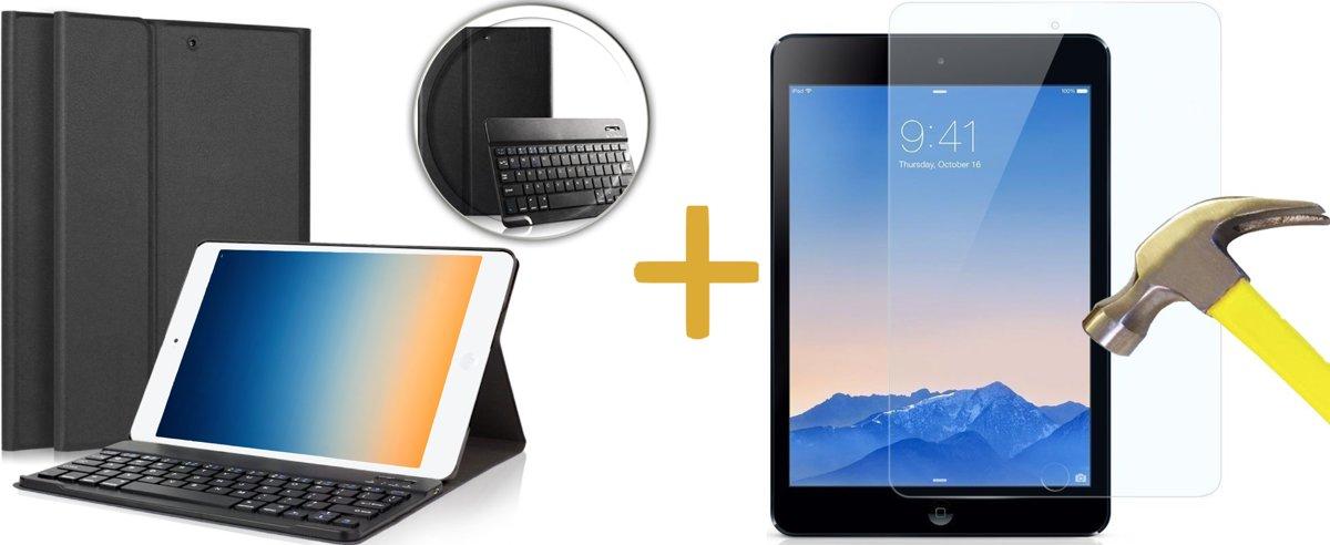 Toetsenbord Bookcase voor Apple iPad Pro 9.7 - Bluetooth Keyboard Hoesje Cover Zwart voor Pro 9.7 + Screenprotector kopen