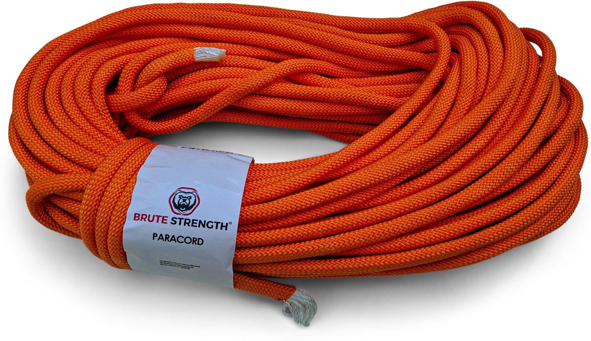 Paracord - Touw - 8 mm - 30 meter - Oranje -  Vismagneet touw - Magneetvissen touw - 920 kg trekkracht