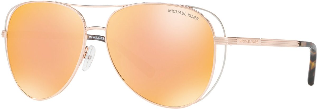 Michael Kors Lai Rose Gold Silver-Tone Zonnebril 0MK1024 11757J 58 - Goud kopen