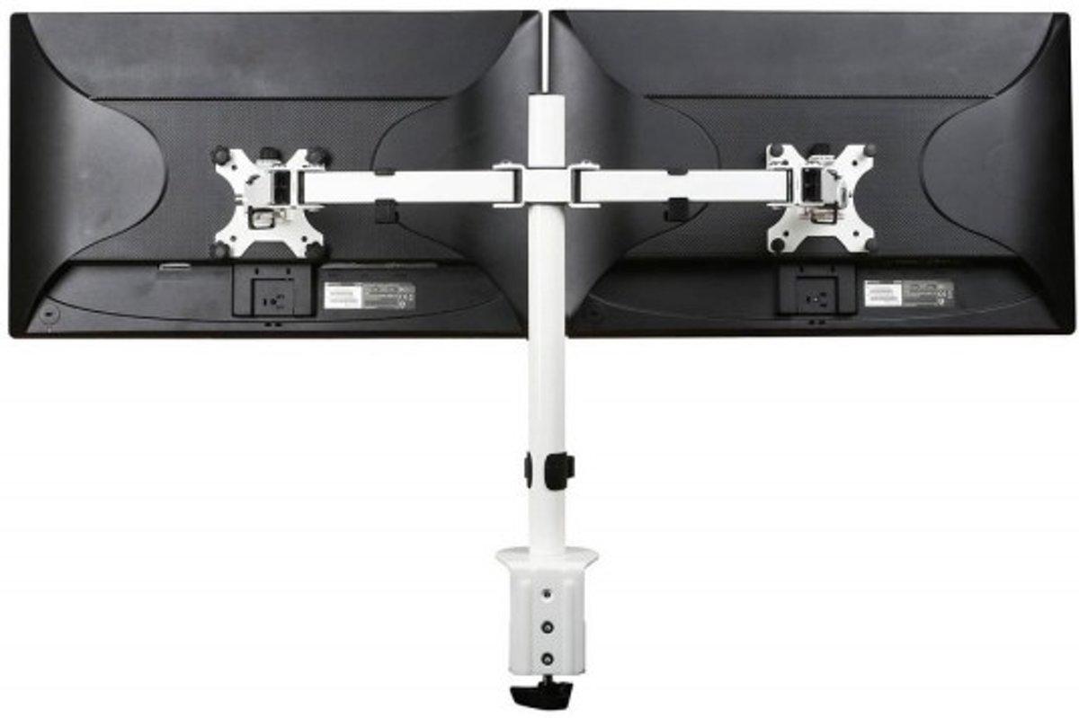 Filex 80985 Focus monitorarm dubbel [2x 32 inch, 8kg, 360°/180°, White]