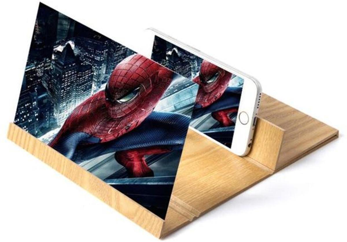 Telefoonscherm Vergroter | Vergrootglas Smartphone | Hout | iPhone Scherm | Uitbreiden | Groter Beeld kopen