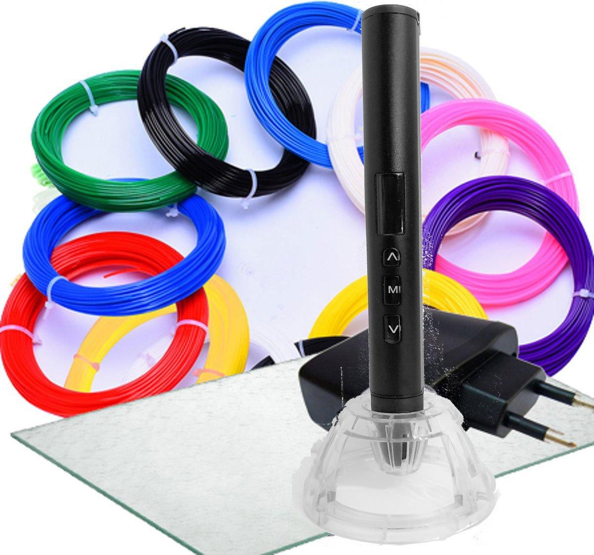 Set: 3D Pen 3DTECH Comfortline II + 12x10m + CLIPS + 3D-PAD + Adapter