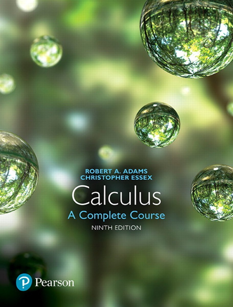 Calculus: A complete course, 6ed., Instructors solutions manual