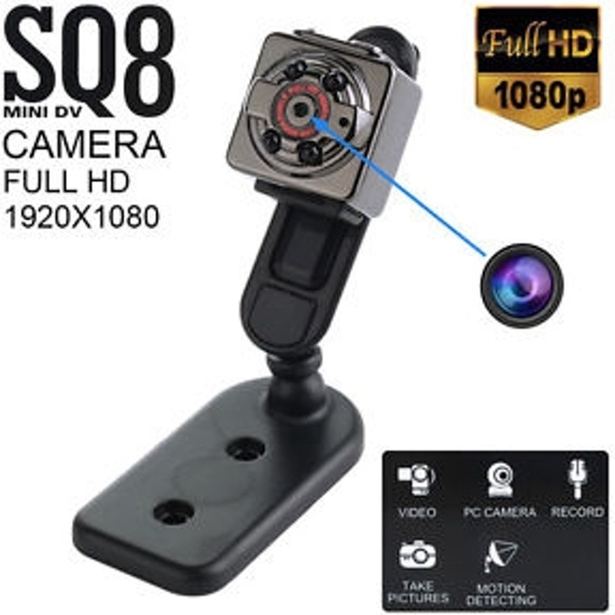 Mini cube camera SQ8 1080p kopen