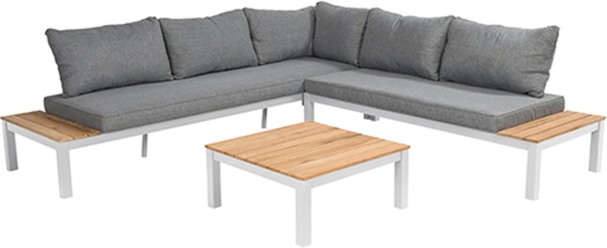 BEACH7 Lounge set aluminium met teak kopen