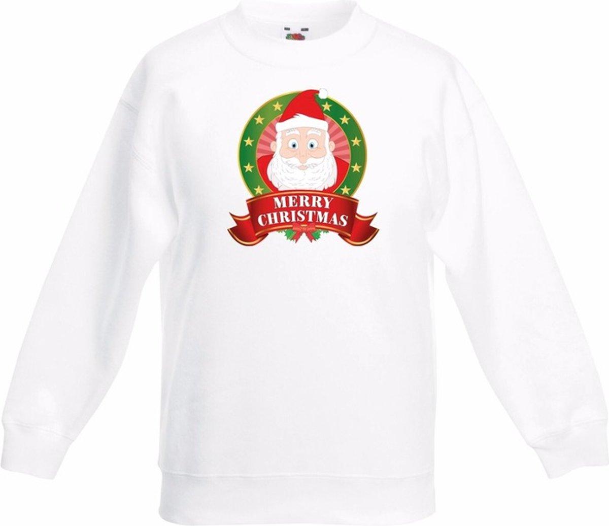 Kerst sweater voor kinderen met Kerstman print - wit - jongens en meisjes sweater 14-15 jaar (170/176) kopen