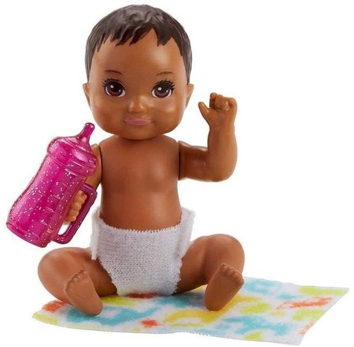 Barbie Babypop Skipper Babysitters Meisjes 6 Cm Bruin (fhy81)