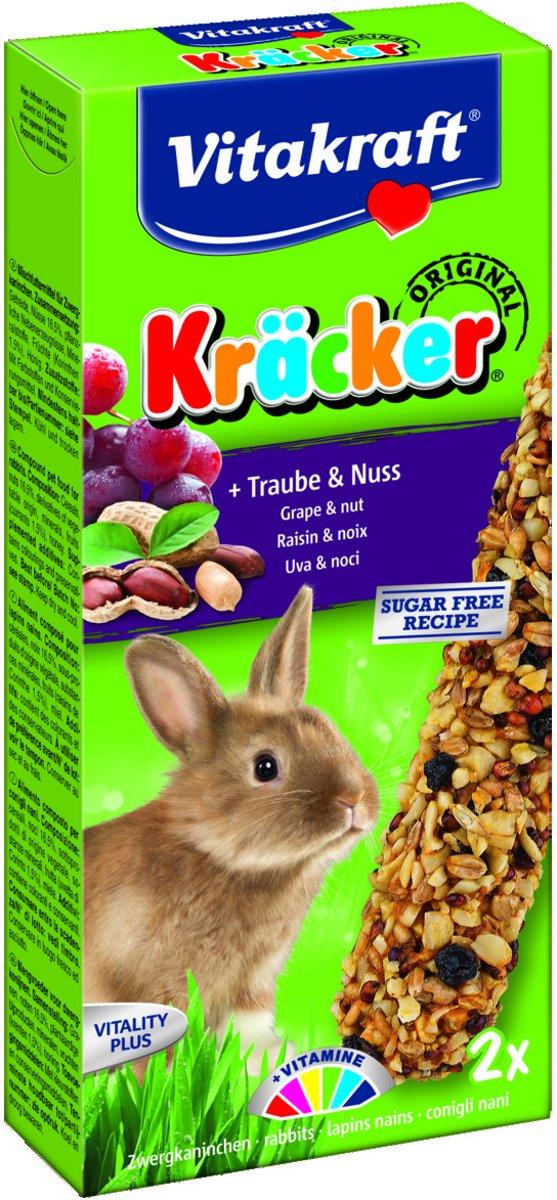 Vitakraft Dwergkonijn Kracker - Noot 2 In 1 - 2 Stuks - Konijnensnack