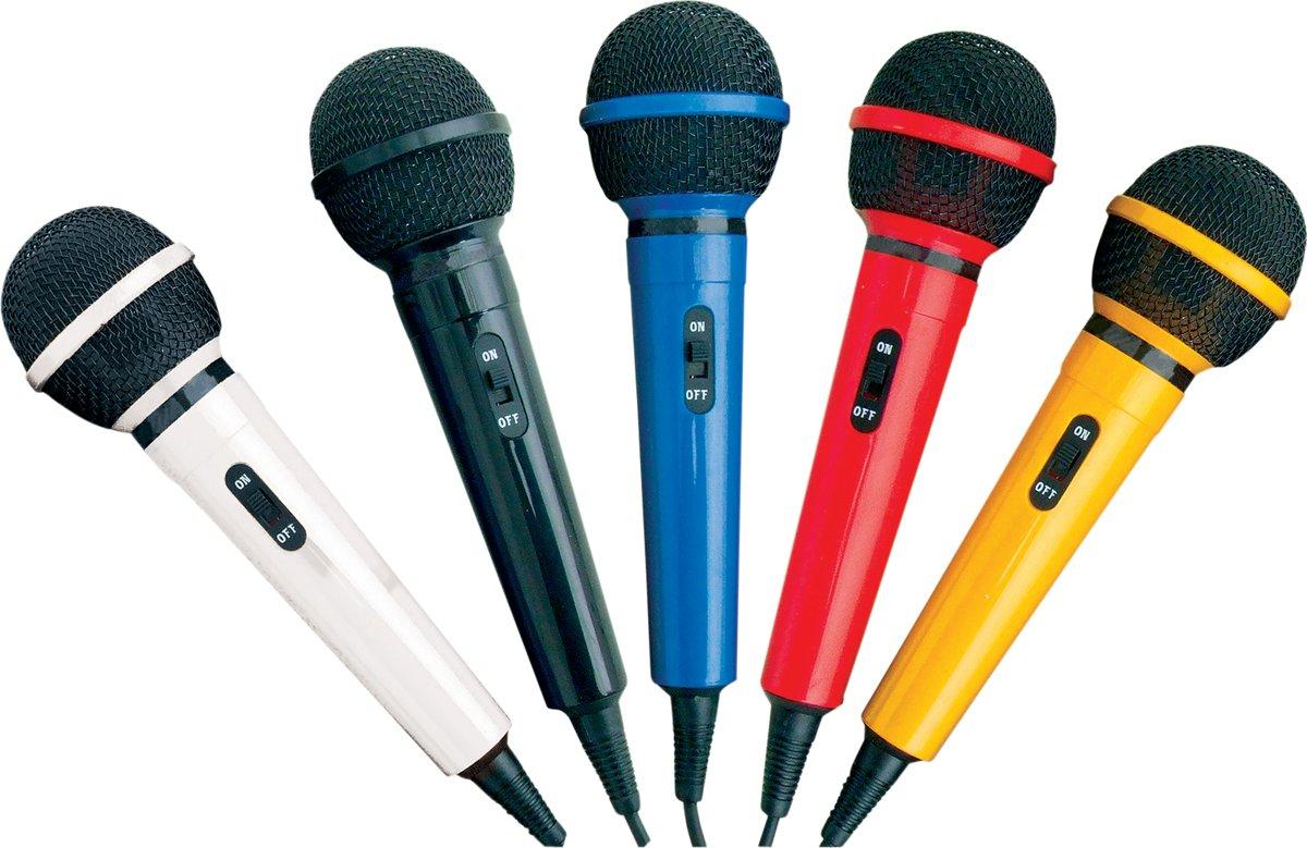Mr Entertainer Microfoon Set met 5 kleuren