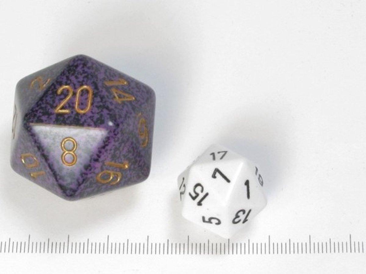 Chessex dobbelsteen, 34 mm 20-zijdig, Speckled Hurricane