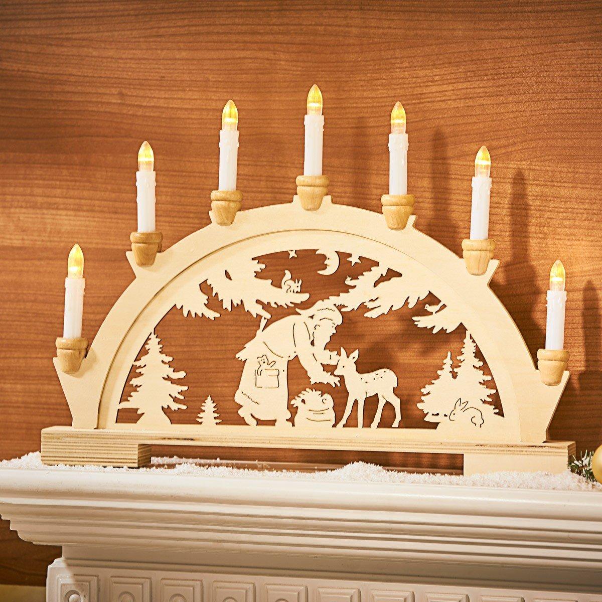Kaarsjesboog »Kerstman« kopen