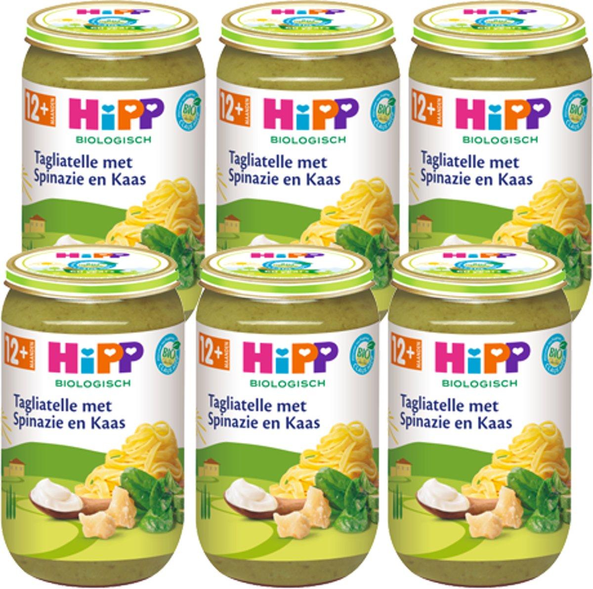 HiPP Bio mlt. 12 - (Vegetarisch) Tagliatelle met Spinazie en Kaas - 6 stuks 250gr kopen