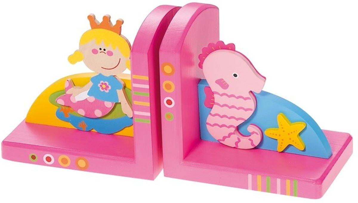 Simply for Kids Zeemeermin - Boekensteun - Roze - Hout kopen