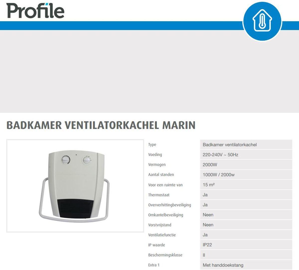 bol.com | PROFILE ventilatorkachel \