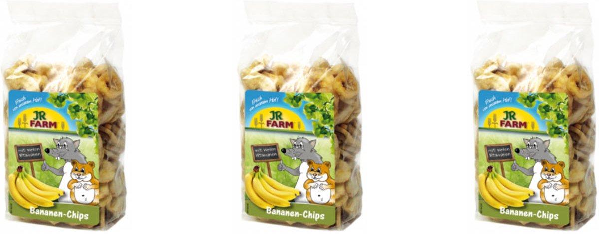 JR Farm - Bananenchips - 150g - Verpakt per 3 - Knaagdierensnack