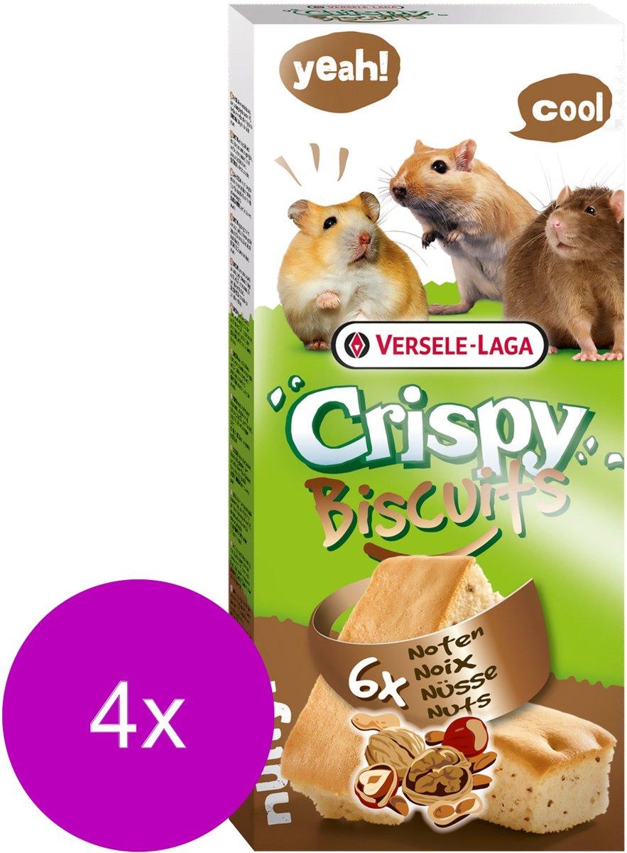 Versele-Laga Crispy Biscuit Knaagdier Noten A 6 - Knaagdiersnack - 4 x Noten 70 g