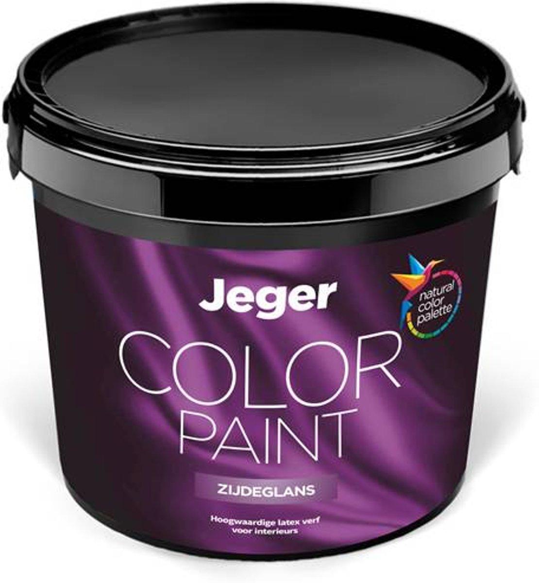 Jeger muurverf Zijdeglans voor binnen | 5 liter | Kleur Okergeel (RAL 1024) Okergeel - 5L