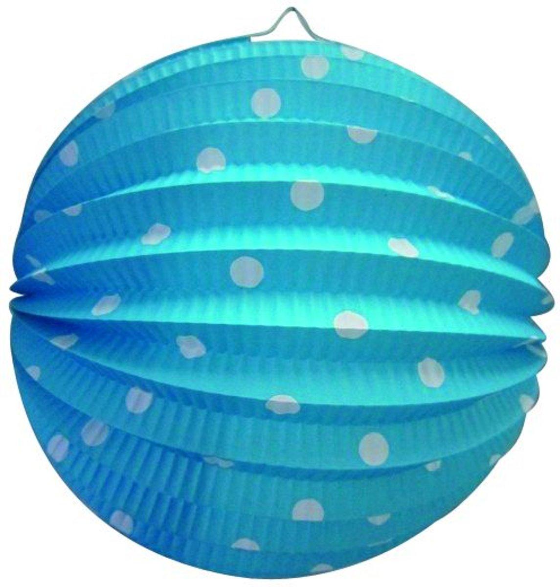 Stippen Lampion Blauw 23cm kopen