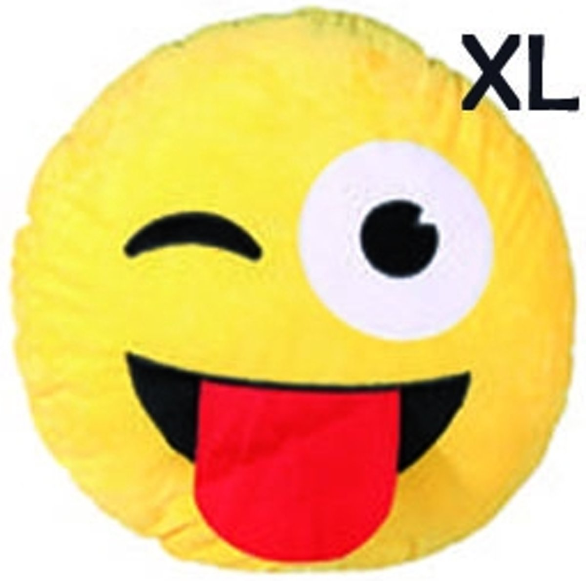 "Emoji - Emoticon - Smiley - XL- kussen - ""Crazy"" kopen"