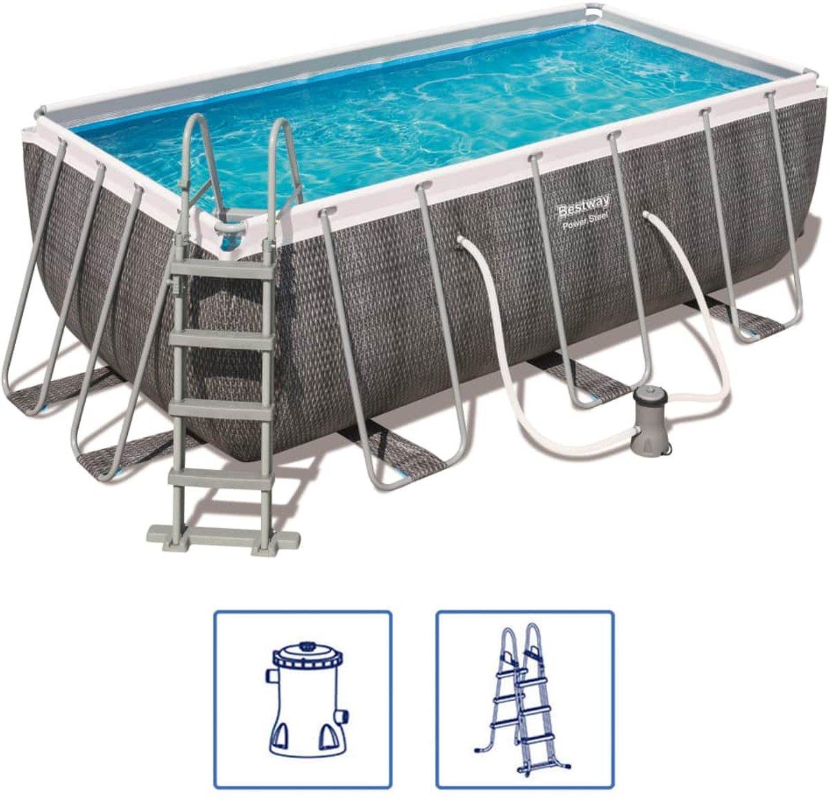Bestway Power Steel Zwembadset rechthoekig 56722